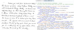 Side by side comparison of digital version and my xml markup