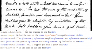 The document transcribed from and the end result text marked up in TEI